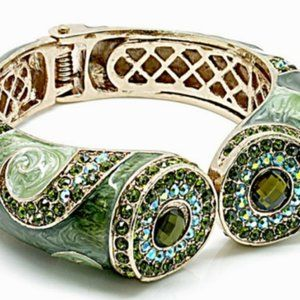 Green and Gold Marble Design Bangle NWT